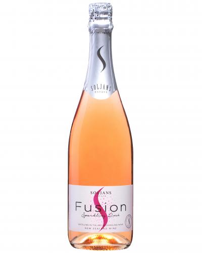 Bottle of Pink Sparkling Wine