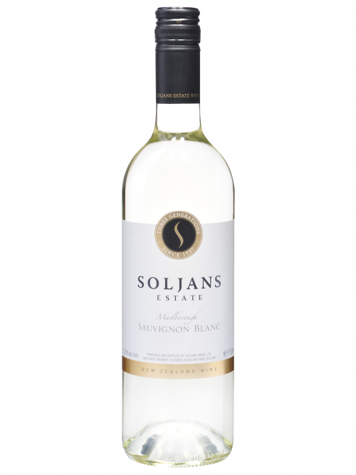 Clear bottle of White Wine - Sauvignon Blanc